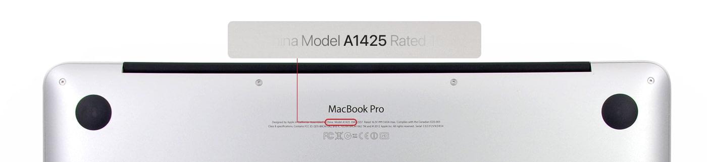 Numéro de version de MacBook Pro